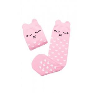 Podkolanówki różowa Lilka Mama's Feet 3-4 lata (Z1786)