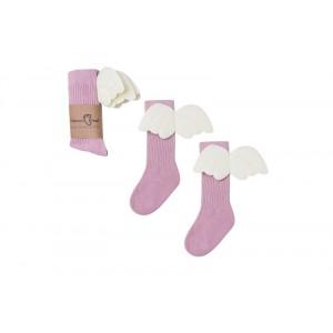 Podkolanówki Aniołki - różowy Aniołek Mama's Feet 0-1 lat (Z2042)