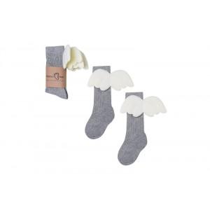Mama's Feet - Podkolanówki Aniołki - Szare - dla Mamy (Z3104)