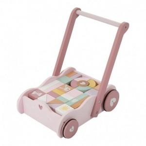 Little Dutch - wózek z klockami Różowy (Z1802)