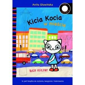 Kicia Kocia w mieście. Ruch uliczny - do czytania i do kolorowania (Z1812)