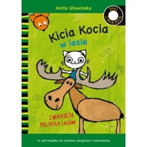 Kicia Kocia w lesie - do czytania i do kolorowania (Z1813)