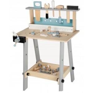 Ecotoys - Drewniany warsztat + zestaw narzędzi 32 elementy (Z1830)