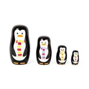 Small Foot Design - matrioszki drewniane pingwinki (Z1837)