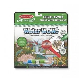 Melissa & Doug - Water Wow DeLuxe Wodna kolorowanka wielokrotnego z lupką - świat zwierząt (Z1841)