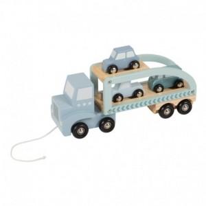 Little Dutch - ciężarówka-laweta - błękitna (Z1852)