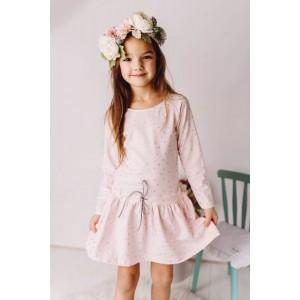 Sukienka bawełniana w kropeczki pudrowy róż Lily Grey