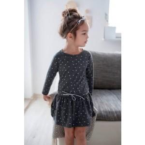 Sukienka bawełniana w kropeczki - szara Lily Grey