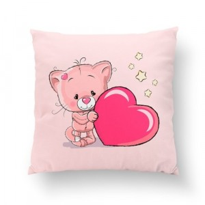 Poduszka Kotek różowy / minky różowe (Z1933)
