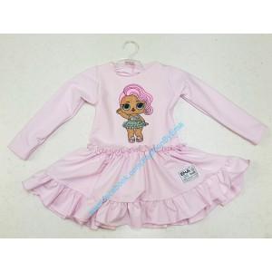 Sukienka bawełniana LOL Ema Fashion Różowa roz.80-140