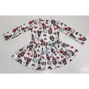 Sukienka bawełniana LOL Ema Fashion Biała Polski producent roz. 80 -140