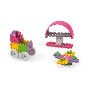 Kreatywne klocki Marioinex mini waffle Konstruktor dziewczynka - 35 szt. (Z1942)