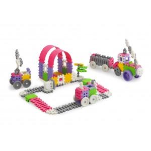 Kreatywne klocki Marioinex mini waffle Konstruktor dziewczynka - 140 szt. (Z1946)