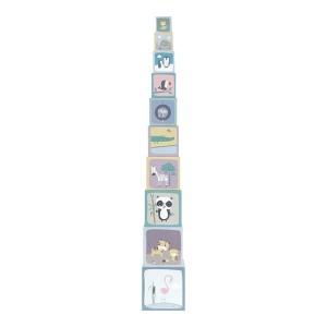 Little Dutch - Kartonowa wieża 10 elementów ZOO (Z2039)