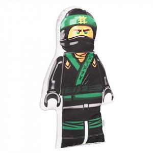 Poduszka maskotka Lego Ninjago zielony+minky szary (Z2061)