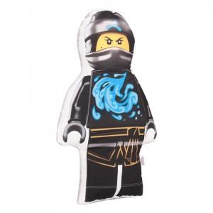 Poduszka maskotka Lego Ninjago niebieski+minky szary (Z2063)