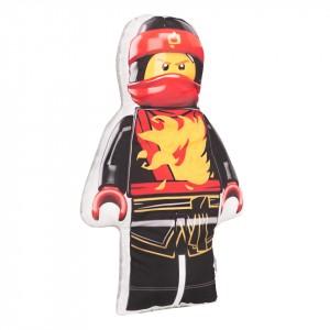 Poduszka maskotka Lego Ninjago czerwony+minky szary (Z2064)