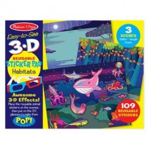 Melissa & Doug - Naklejki 3D Zwierzęta (Z2073)