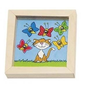 GOKI - Gra zręcznościowa - kuleczka do dołeczka - kotek (Z2150)