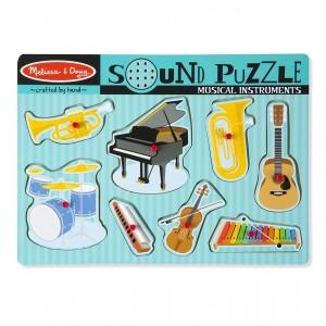 Melissa & Doug Drewniane puzzle dźwiękowe - Instrumenty (Z2151)