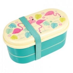 Rex London - śniadaniówka lunchbox bentobox Flamingo Bay (Z2166)