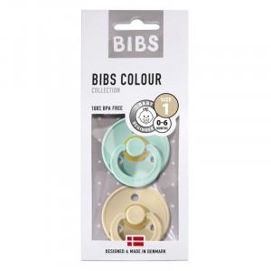 BIBS 2-pak Smoczek uspokajający kauczuk Hevea Mint&Beige 0+ (Z2188)