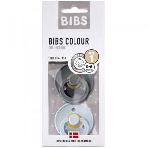 BIBS 2-pak Smoczek uspokajający kauczuk Hevea Iron&Baby Blue 0+ (Z2187)