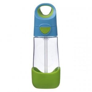 B.Box - butelka tritanowa ze słomką 450ml - Ocean Breeze - niebiesko-zielona (Z2204)