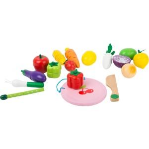 Small Foot Design - Drewniany magnetyczny zestaw do krojenia - warzywa i owoce (Z2212)