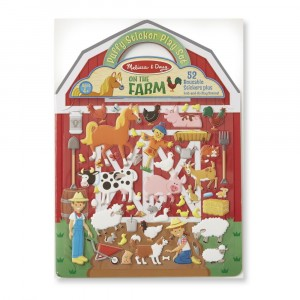Melissa & Doug - wypukłe naklejki wielokrotne Farma (Z2240)