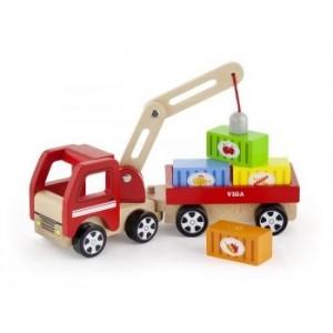 VIGA - ciężarówka z dźwigiem i przyczepą (Z2246)