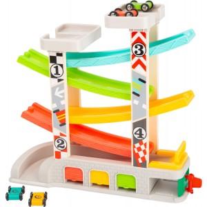 Small Foot Design - tor wyścigowy z garażami (Z2449)