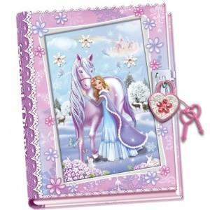 Pamiętnik z kłódką Zimowa Księżniczka (Z2457)
