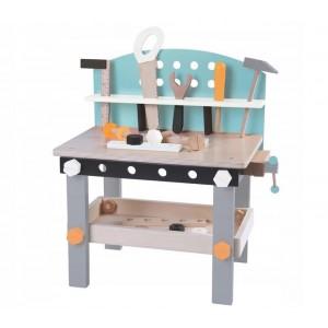 ECOTOYS - Drewniany warsztat zestaw narzędzi 32 elementy Pastelowy (Z2268)