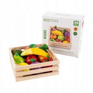 ECOTOYS - drewniane magnetyczne owoce do krojenia (Z2270)