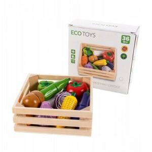 ECOTOYS - drewniane magnetyczne warzywa do krojenia (Z2271)