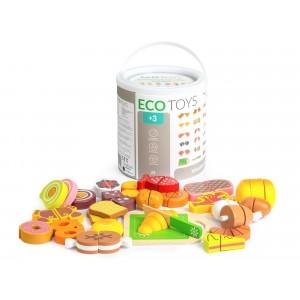 ECOTOYS - zestaw drewniane jedzenie (Z2272)