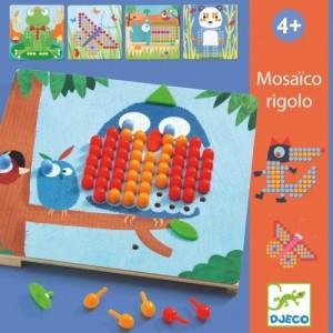 Djeco - układanka mozaika Mosaico Rigolo (Z2311)