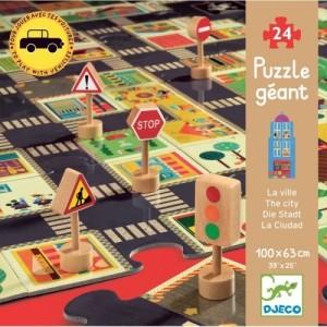Djeco - gigantyczne puzzle Ulice i Znaki 24 el. (Z2316)