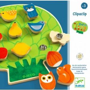 Djeco - układanka drewniana z zapięciami Clipaclip (Z2318)