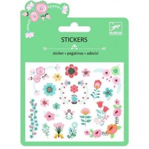Djeco - naklejki brokatowe Kwiatki (Z2328)