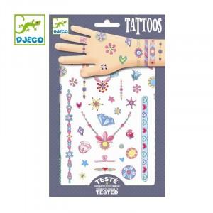 Djeco - tatuaże dla dzieci neonowe - Klejnoty Jenni (Z2329)