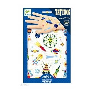 Djeco - tatuaże dla dzieci świecące w ciemności - Kosmos (Z2331)