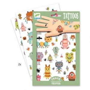 Djeco - tatuaże dla dzieci metaliczne Potworki (Z2332)