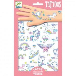 Djeco - tatuaże dla dzieci brokatowe - Jednorożce (Z2334)