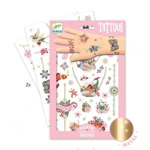 Djeco - tatuaże dla dzieci metaliczne Klejnoty Fiony (Z2335)