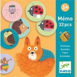 Djeco - gra pamięciowa Memo Zwierzątka 32 el. (Z2336)