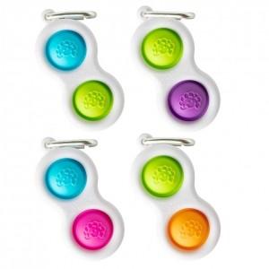 Fat Brain Toys - sensoryczne bąbelki Simpl Dimpl - niebiesko/różowy (Z2360)