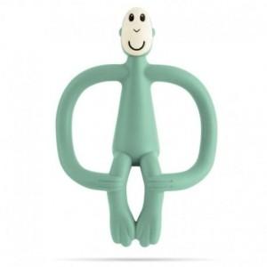 Matchstick Monkey - ekologiczny i bezpieczny gryzak ze szczoteczką masującą - Mint (Z2371)