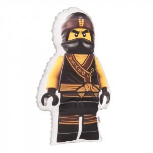 Poduszka maskotka Lego Ninjago żółty+minky szary (Z2386)
